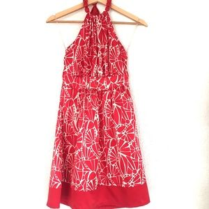 Darling halter dress! Lovely satin feel! EUC SMALL